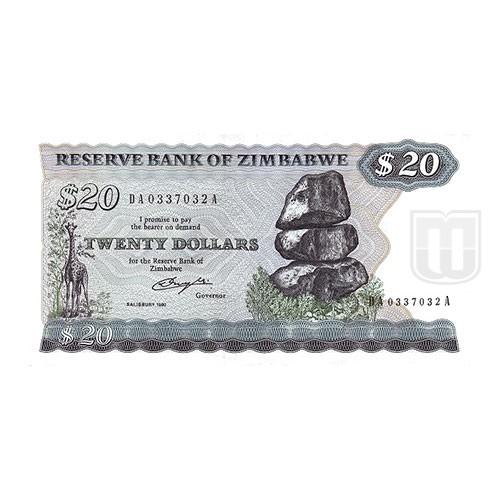 20 Dollars | KM 4 | O